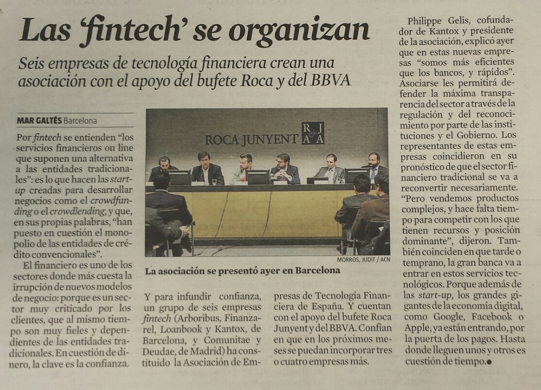 La Vanguardia Asociación Fintech