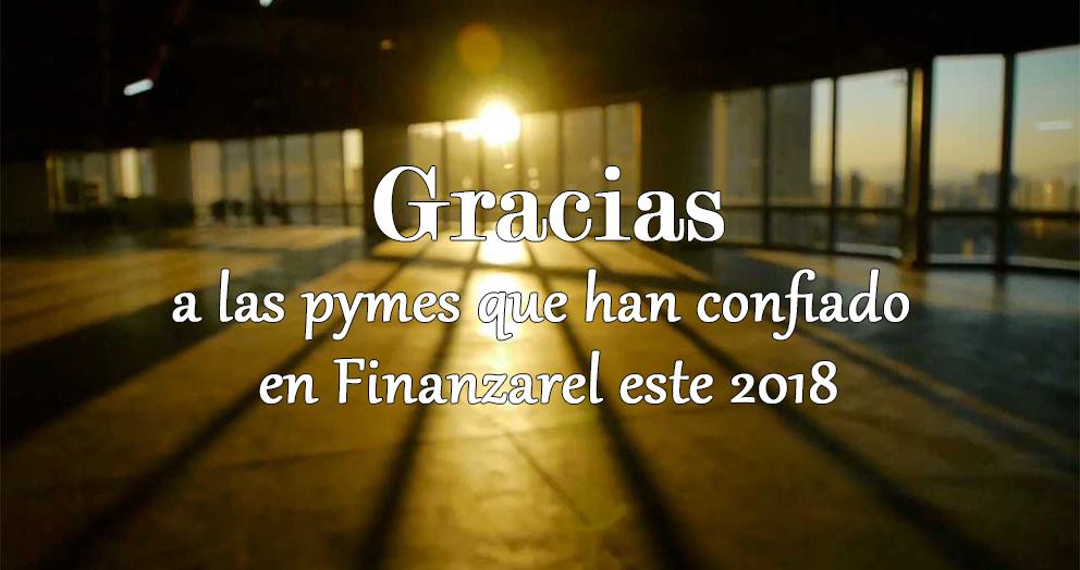 Gracias a las pymes que han confiado en Finanzarel este 2018