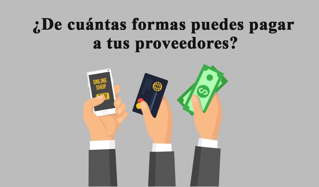 ¿De cuántas formas puedes pagar a tus proveedores?
